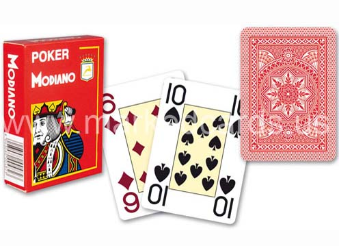 modiano poker index marked playing cards